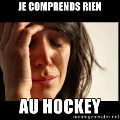 Chérie je regarde le hockey