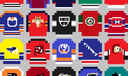 Les chandails de la NHL en version 8-bit