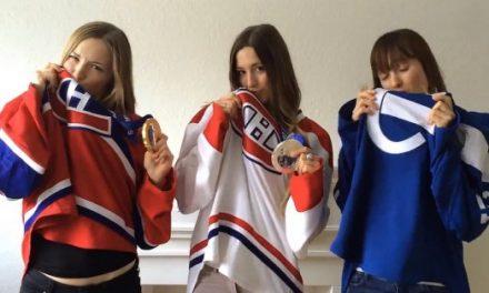 Les soeurs Dufour-Lapointe appuient le Canadiens de Montréal